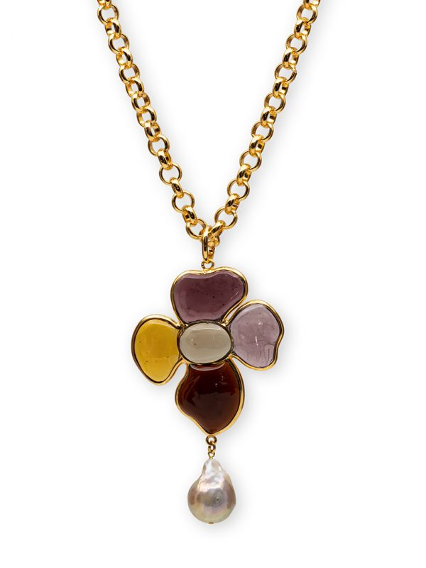 Loulou de la Falaise 24k gold necklace