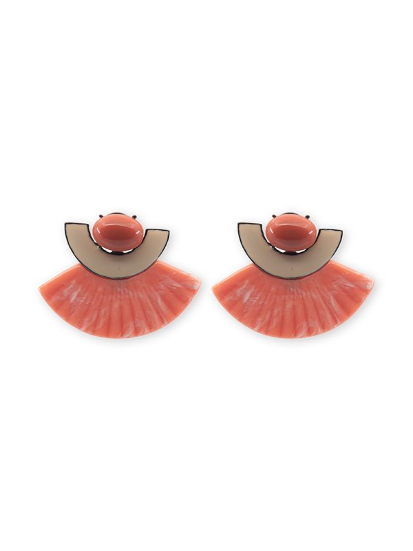 Summer collection coral earrings