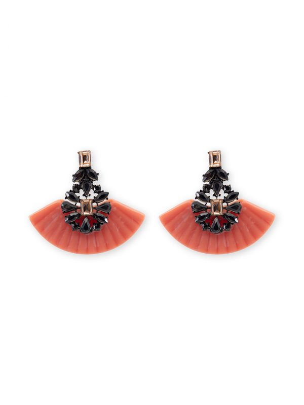 Summer coral earrings antibes